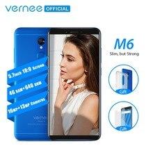 Vernee M6 4 GB 64 GB Smartphone Ultra 5.7 inç cep telefonu 4G LTE Android 7.0 Telefonu ile 13MP Özçekim kamera 16MP Kameralar Pa...