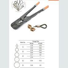1 шт./лот пресс zange наконечник пресс обжимной инструмент+ стальной проволочный канат для 1,5-5,0 мм проволочный канат и все типы наконечников