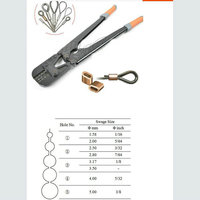 1PC/LOT Presszange Ferrule Press Crimping Tool+Steel Wire Rope Cut For 1.5 5.0MM Wire Rope And All Types Ferrule