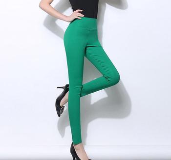 A Vita alta Matita Delle Donne Pantaloni Bianchi Stretch Skinny Leggings Lunghi Pantaloni Neri per la Femmina 2018 Autunno inverno Delle Donne Delle Ghette