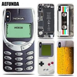 Drôle Doux TPU Cas pour iPhone 7 8 Plus X 6 6 s 5 5S SE Bière Gameboy Téléphone Batterie effacer Cover Silicone pour iPhone XS Max XR Capa