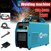 Portable MMA 300G Mini Welding DC Welding Machine 220V 25A 300A Semi Automatic Inverter LCD Soldering