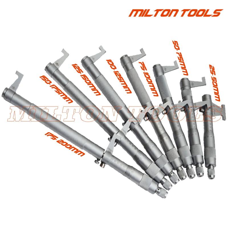 Inside micrometer 5 30mm 25 50mm 50 75mm 75 100mm internal measuring micrometer 4pcs set