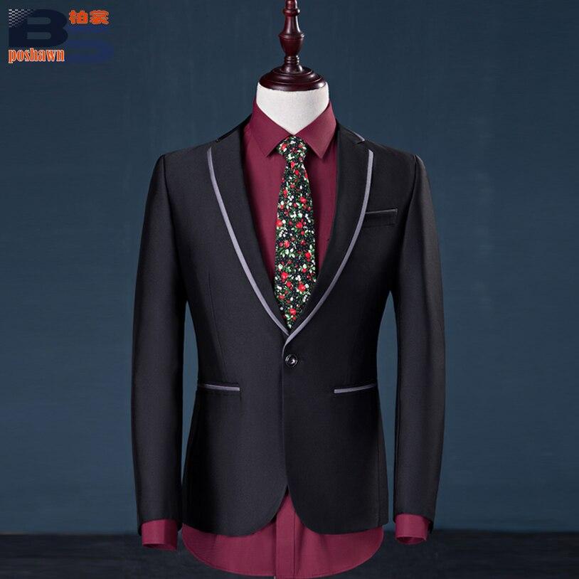 Taille Slim Costume Grande De Black dark Costumes Pantalon Mariage 2 Banquet Gray Blazer Hommes Unie 2018 Loisirs Pièces Couleur Hommes Robe Wv018Sg