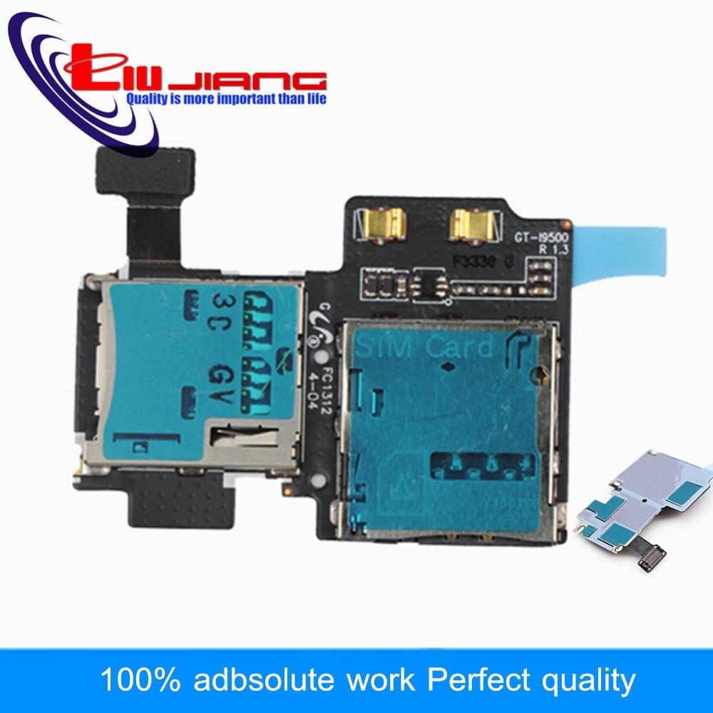 Liujiang New For Samsung S4 i9500 i9505 Sim Card Holder Micro SD Memory Socket Slot Tray Flex Cable