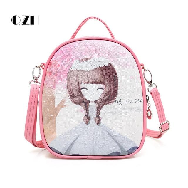 Aliexpress.com : Buy QZH little girl messenger bags cartoon kids ...