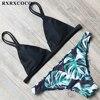 RXRXCOCO Bikini 2018 Sexy Brazilian Bikini Set Swimwear Women Swimsuit Bathing Suit Leaf Print Biquini Swim