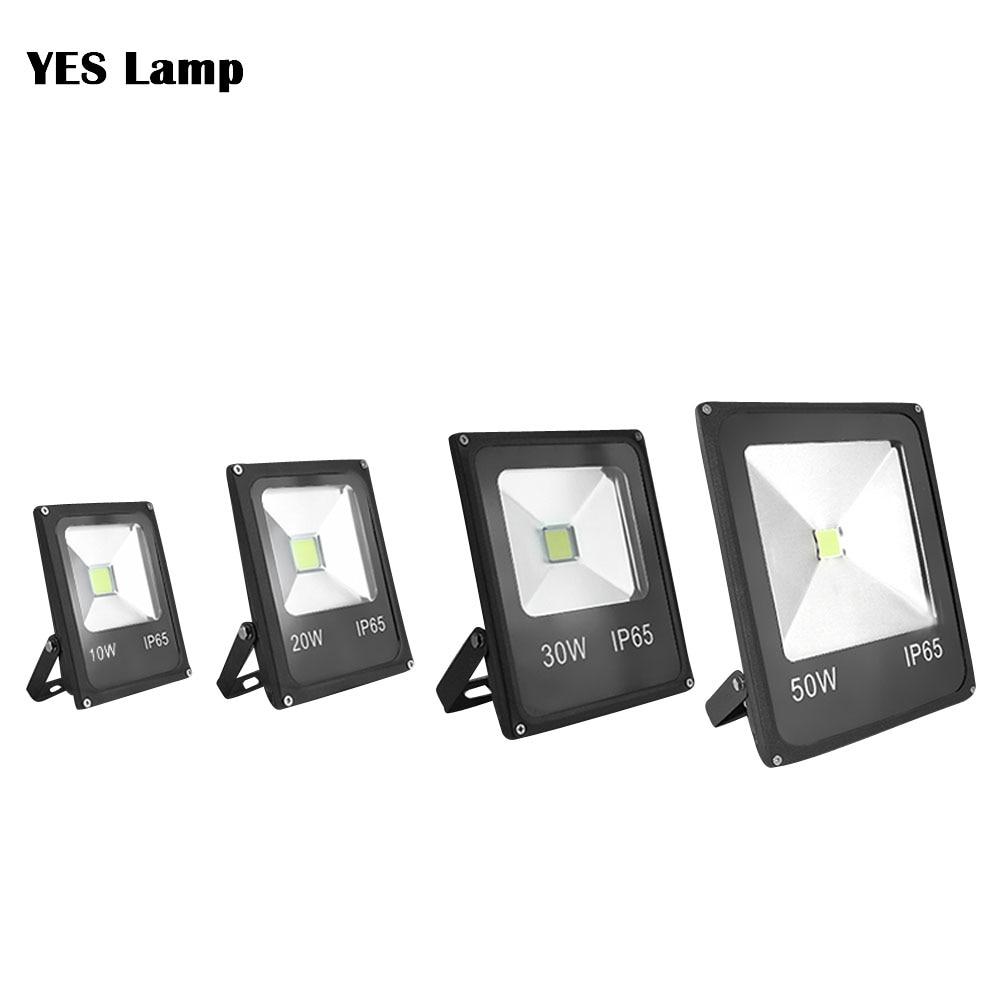 LED Flood Light Outdoor Lamp Led Spotlight Reflector Sensor Floodlight 10W 20W 30W 50W Waterproof Garden 12V 220V 110V Lighting