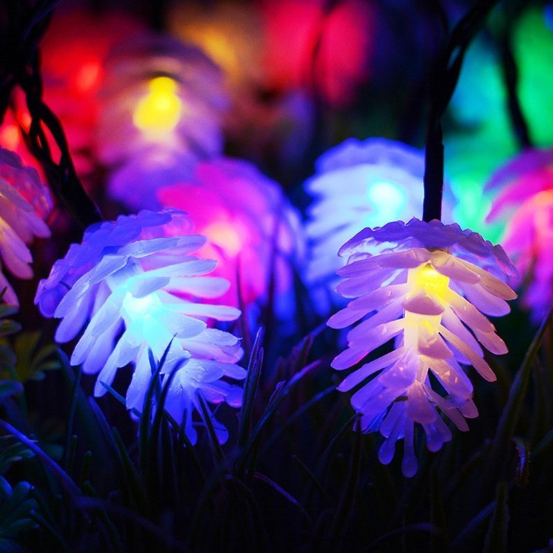 10M Pine Cone Garlands LED Christmas Lights Outdoor Indoor New Year Decoration Garland LED Fairy String Lights Luzes De Navidad