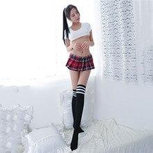 Новая мини-юбка в клетку, Женские Короткие плиссированные юбки с эластичной резинкой на талии, школьная юбка с Боковым Разрезом для девушек, сексуальные костюмы для студентов ночного клуба