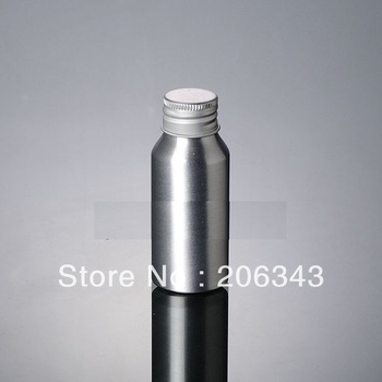 100pcs 50ml Aluminium bottle with silver lid or lotion bottle