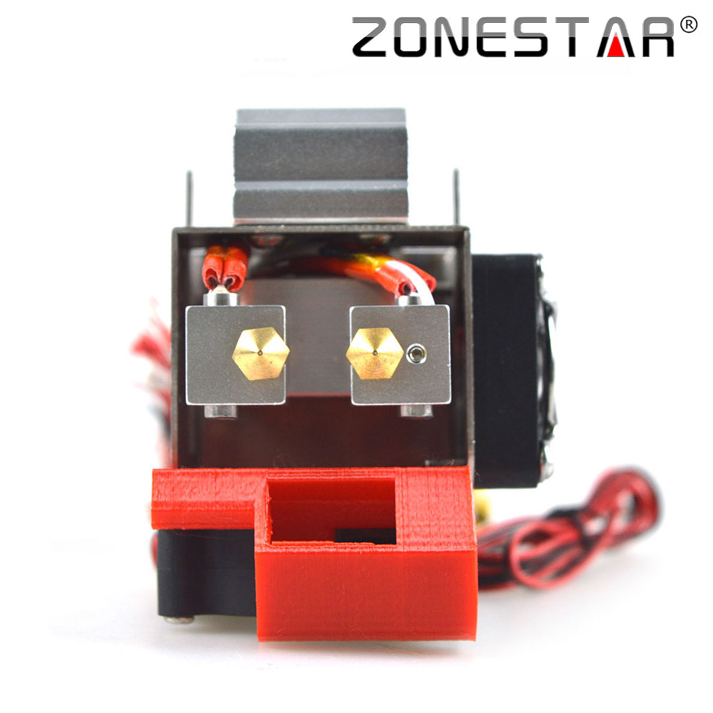 Dual Extruder Hotend for P802 3D printer DIY kit print head j-head i3 Two Color Extruder nozzle Fan Heater SCS8UU bearing NTC 3d printer accessory reprap j head mkiv mkv hotend nozzle wade bowden extruder for choice top quality free shipping