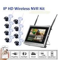 8ch NVR WI FI видеонаблюдения Камера Системы 8 шт. 720 P HD открытый Беспроводной комплект видеонаблюдения Товары теле и видеонаблюдения Системы P2P