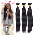 Brazilian Virgin Hair Weaves 4 Bundles Wonder Beauty Straight Human Hair Hot Selling 1b Virgin Brazilian Straight Hair Weaving
