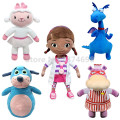 Doc McStuffins Toys Doc Lambie Lamb Stuffy Dragon Hallie Hippo Boppy Dog Plush Toy 30cm Cute Stuffed Animals Kids Dolls Gifts