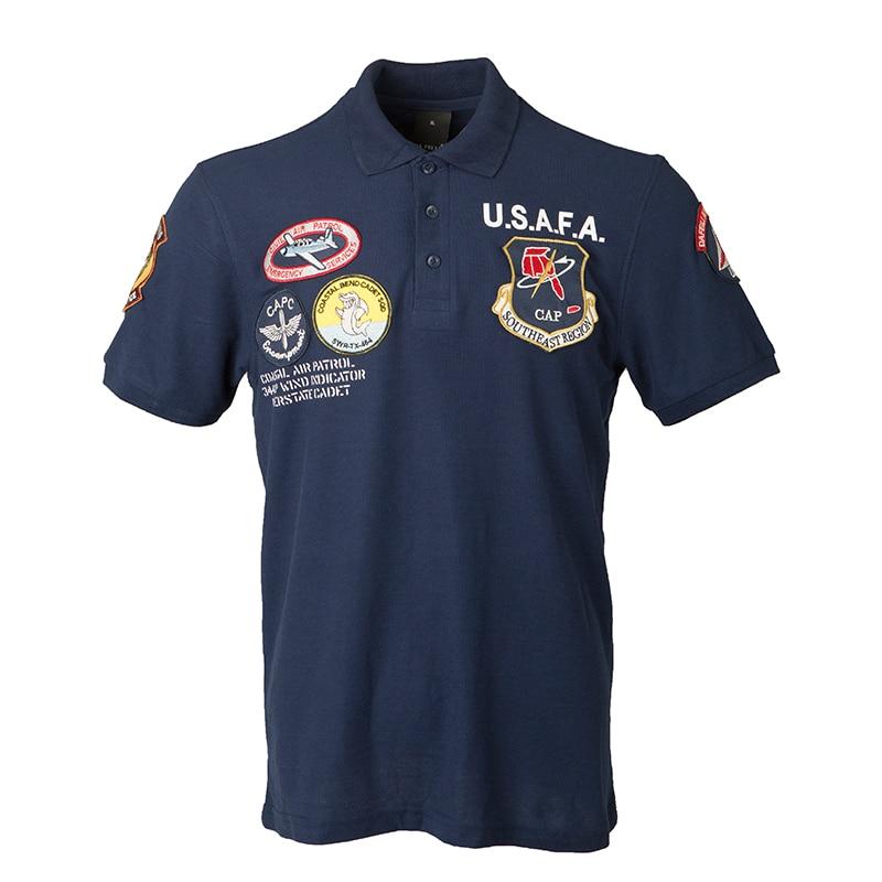 2019ss Vintage USAFA Top Gun Polo Shirt Men Clothes Brands Summer Short Sleeve Military Air Force One Top Gun Army USN MA1 USMC
