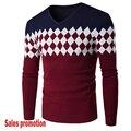 Suéteres de los hombres de Los Hombres de Estilo Masculino Suéter Jumper Pullover Cuello En V Slim Fit Hombre de Punto Sudaderas Punto Blusas Outwear Caliente