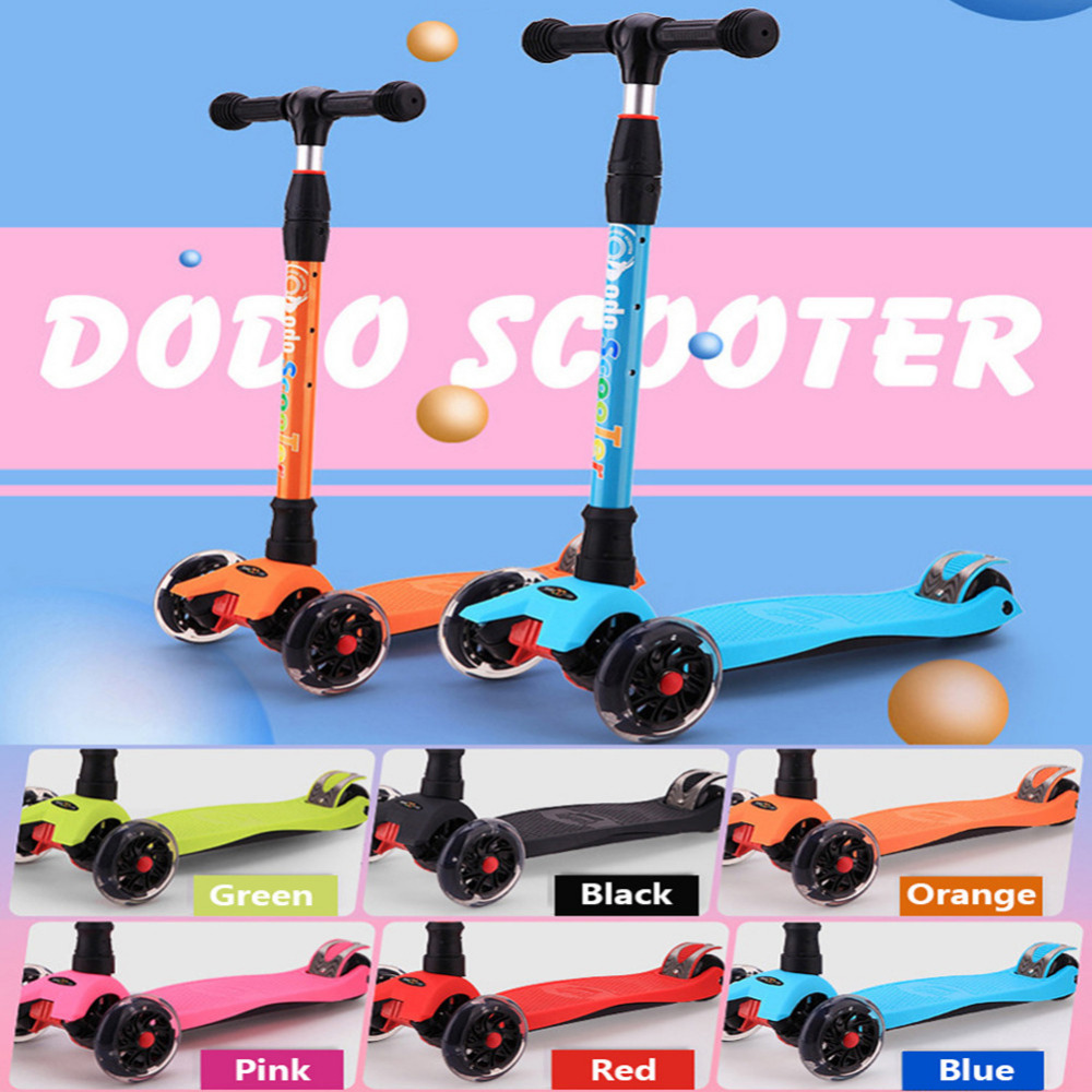 children foot scooters flashing alloy kids t shaped scooter for kids kick scooter with aluminum pu wheel Hot Sale Aluminum Alloy Foot Scooters Adult Children Scooter Kick scooters Adjustable Folding Kickboard for children
