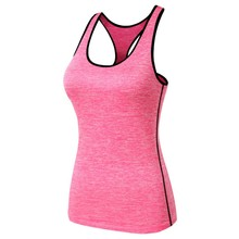 Running T-Shirt Gym Fitness Yoga Workout Tank Top Vest Women Quick-Dry Sports