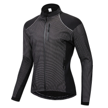 WOSAWE Winter Cycling Jacket Fleece Thermal Warm Up Bicycle Clothing Windproof Windbreaker Water Resistance Reflective