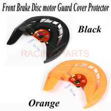цена на Motorcycle Front Brake Disc Rotor Guard Cover Protector Black Fit  SX SXF XC XCF EXC EXCF 125 200 250 300 350 450 530