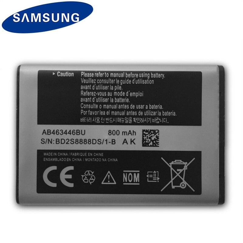 SAMSUNG Original Batterie AB463446BU Für Samsung S139 M628 X520 F258 E878 E1200M SGH-B108 GH-M310 SGH-L258 Telefon batterie 800 mah