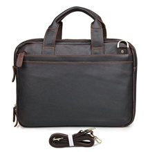 Cow Leather New Men's Dark Brown Laptop Bag Handbag Briefcase