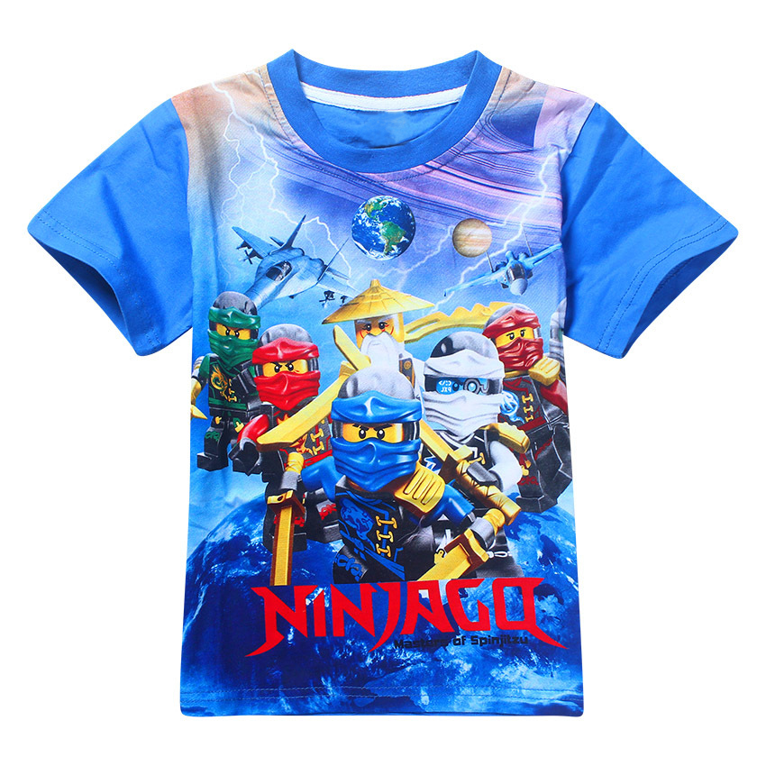 HOT 2017 Boys Clothing Summer Kids T-shirt Ninja Ninjago Cartoon Movie Print T-shirt Tees Boys Girls Tops Kids Costume