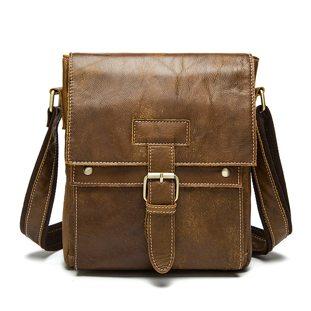 Vintage Genuine Leather Men Shoulder Bag Male Crossbody Bags Men's Messenger Bag Caual Business Cowhide Bags men s briefcase vintage shoulder cowhide leather bags crossbody bags real genuine leather men messenger bag