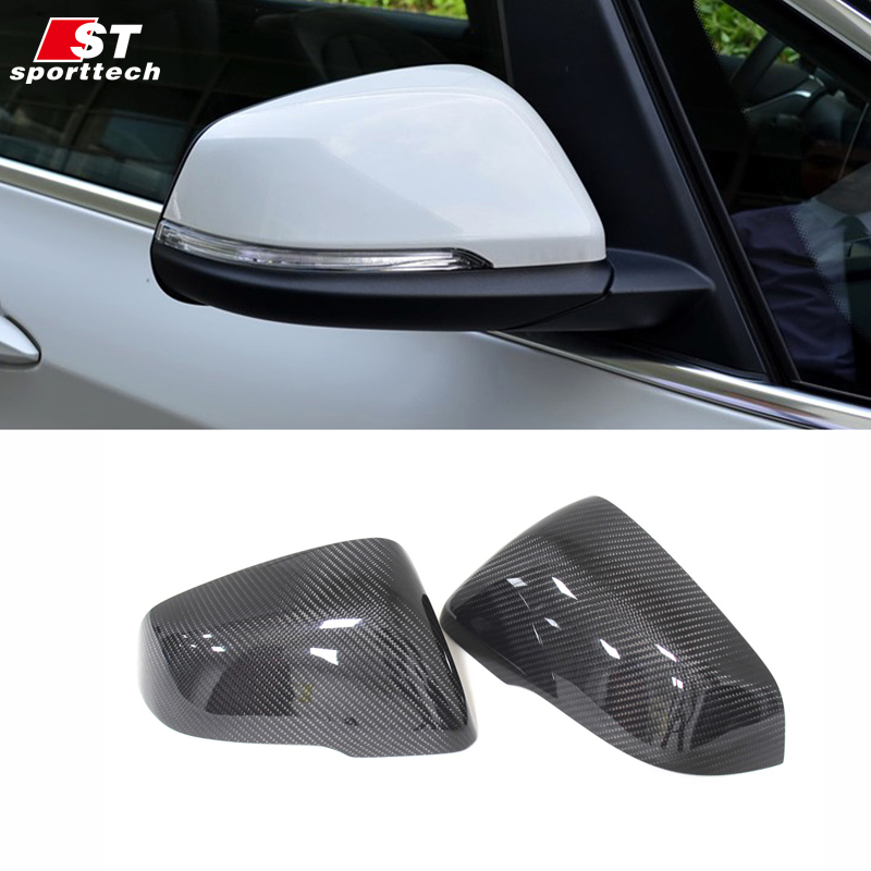 Car Styling Rearview Mirror Sticker For BMW F45 2 Series Carbon Fiber Rear View Mirror Cover For BMW F45 Accessories Part