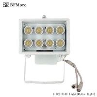 BFMore Blanc illuminateur Remplir Lumière 8 PCS Led 20-30 m Distance DC12V pour CCTV Surveillance de Sécurité Snap Route Parking lampe de poche