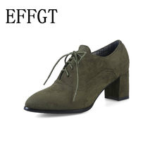 1b4f6598 EFFGT 2019 New spring woman shoes stylish comfortable Ladies high-heeled  shoes Women pointed retro lace wild single shoes