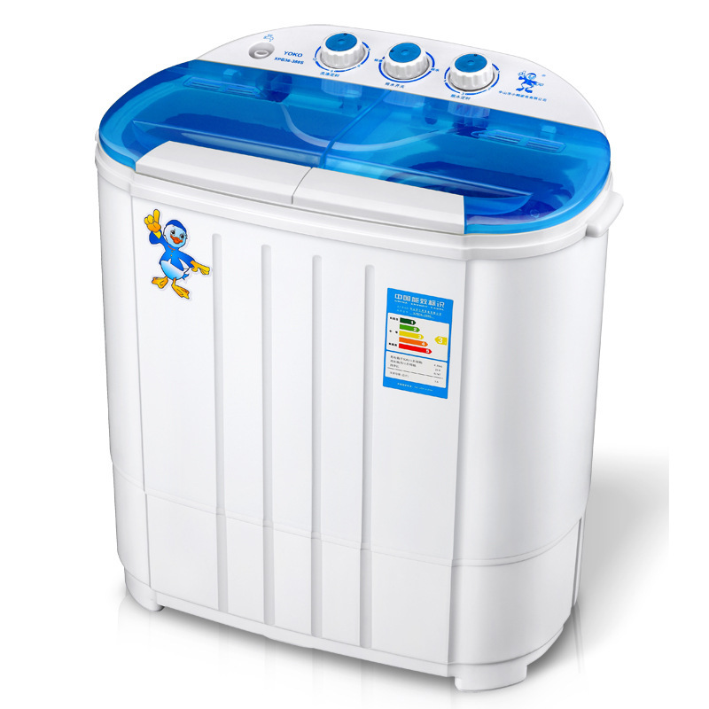 3.6kg Capacity Mini Washing Machine Twin Tub Semi-automatic Socks Baby Clothes Washer with Strong Dehydration Function Small
