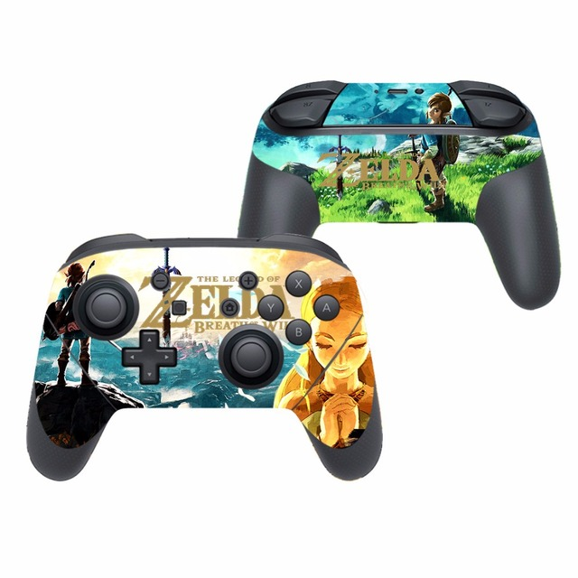 Game The Legend of Zelda Vinyl Cover Decal Skin Sticker for Nintendo Switch Pro Controller Gamepad Skin Stickers 2