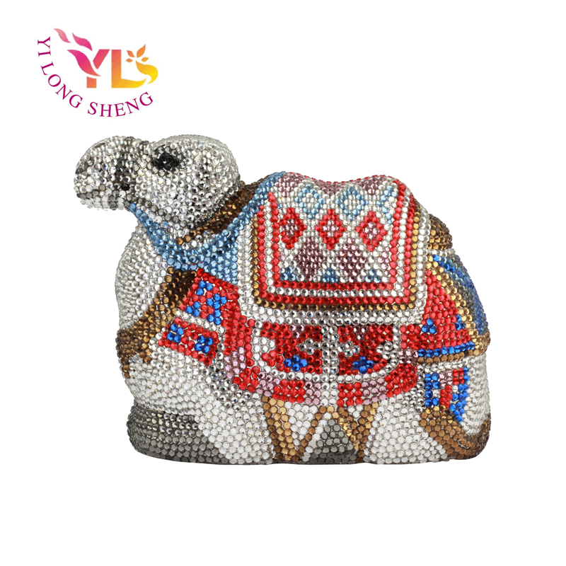 ФОТО YILONGSHENG Womens Camel Shaped Crystal Clutch Purse For Prom EB1837