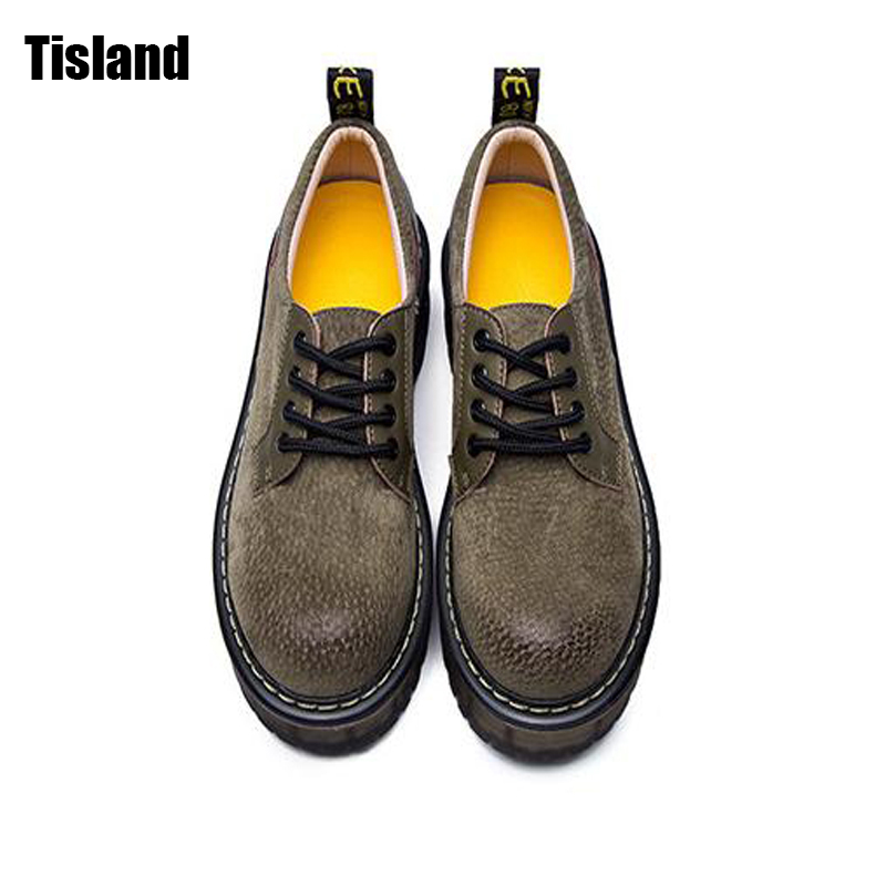 Women Oxfords Genuine Leather Flats Platform Martin Casual Shoes Round Toe Creepers Vintage Fashion Thick Sole Autumn Shoes qmn women genuine leather platform flats women cow leather oxfords retro square toe brogue shoes woman leather flats creepers