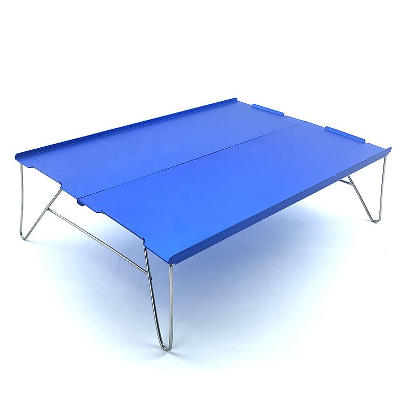 Blue Ultralight table Outdoor mini folding portable table picnic table light aluminum travel table for camping