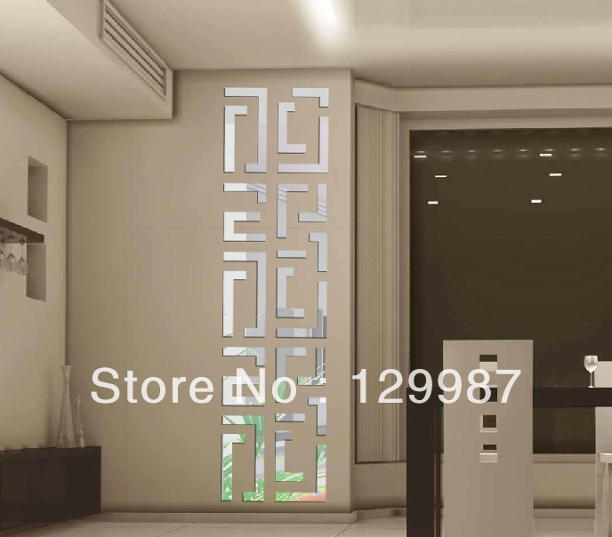 2013 hot selling 3D acrylic wall mirror stick for home decoration