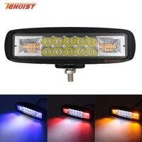 Luz LED de trabajo de 6 pulgadas superfino  blanca  roja  azul  ámbar  para coches  SUV  camiones  autobús  12V 24V  barra de luz de advertencia