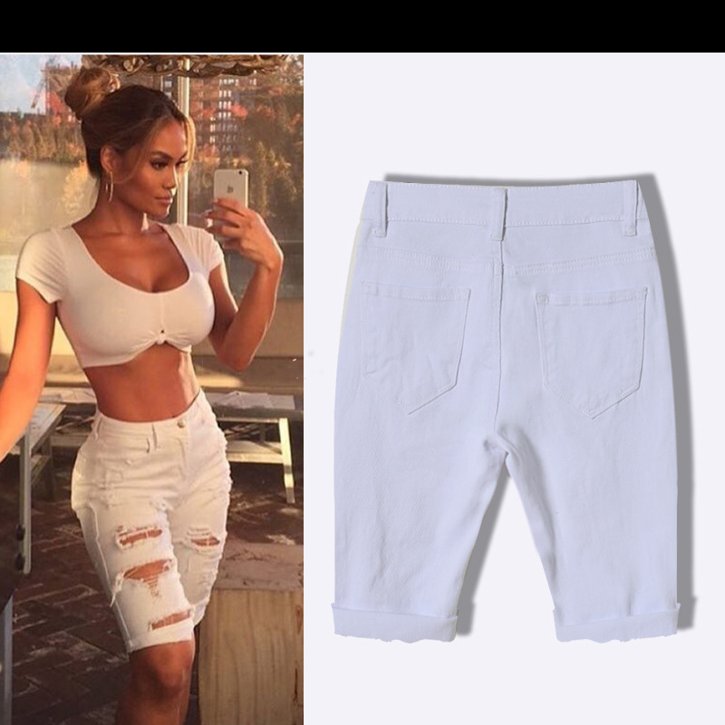 Aliexpress.com : Buy White Jeans With Holes 2016 Fashion High ...