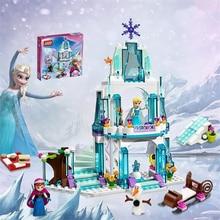 SY373 JG301 Girl Friends Minifigure Elsa's Sparkling Ice Castle Anna Elsa Queen Kristoff Olaf Building Toys for children LEPIN
