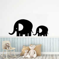 Free shipping Elephant Vinyl Kitchen Wall Stickers Wallpaper for Living Room Company School Office Decoration Accessories