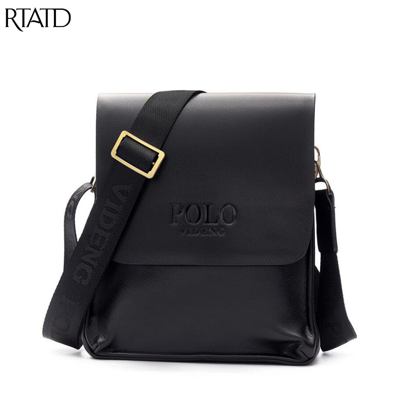 RTATD New Leather Men Messenger Computer Shoulder Bags Business Male Bag Men Cross body Bag IT Mens Bags B269