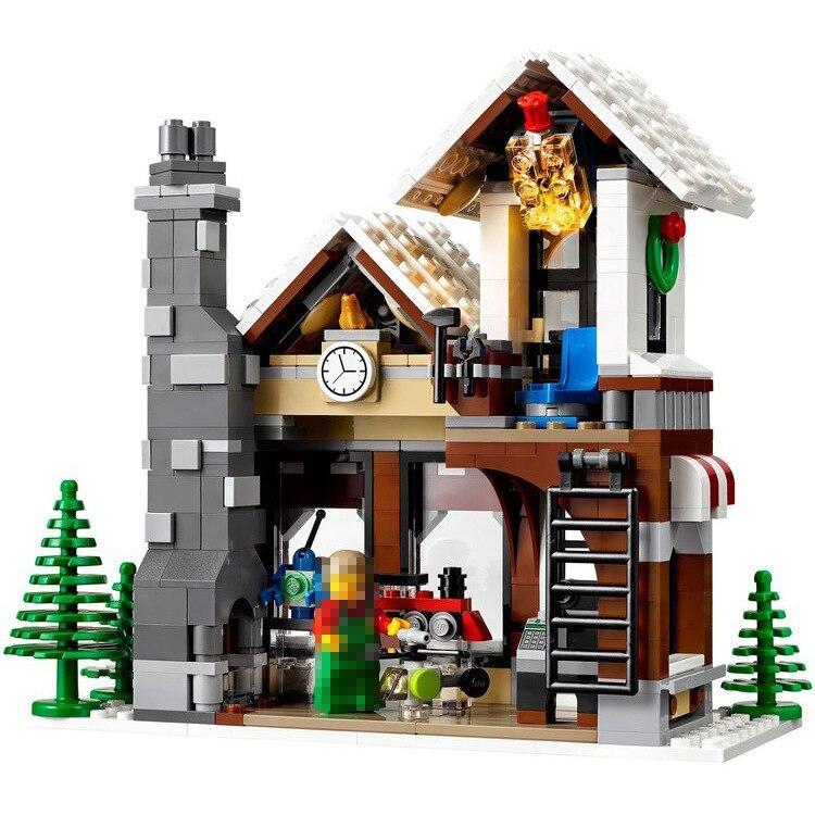 945 pcs Village D'hiver Jouet Magasin Créateur NOËL ARBRE Briques De Construction Blocs Jouets Compatibles 10249 LEPINE LELE 39015