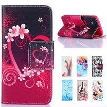 For Samsung A5 Cute Cartoon Love Tower Wallet Leather Flip Fundas Coque Case For Samsung Galaxy A5 2015 A500 A500F A5000 Cover