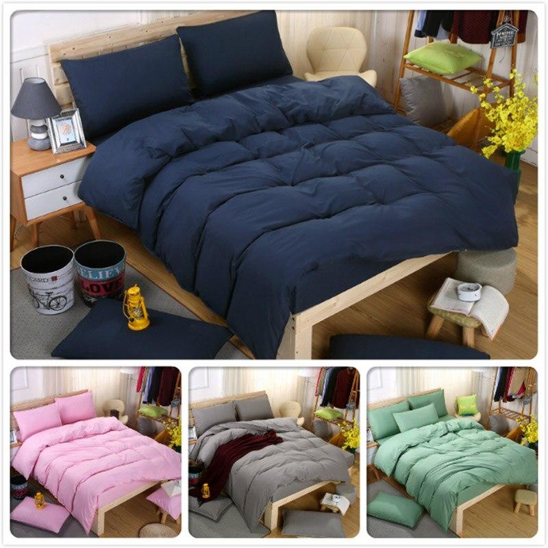 King Queen Twin Double Single Size 4pcs Bedding Set 1.5m 1.8m 2.0m Bed Sheet Duvet Cover Pillowcase Sets Bedlinens Child Student