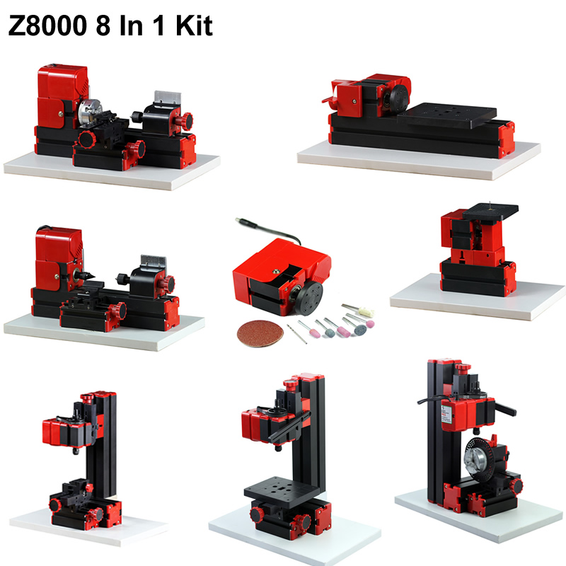 Z8000 8 in 1 Mini Lathe Kit 24W 20 000r min Standardized children education BEST Gift