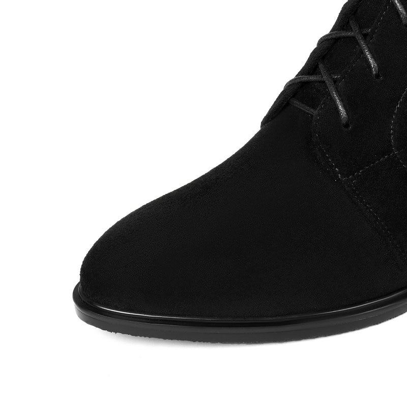 Combat Bas Haute Lace Genou Cuir Épais Bottes Noir Zipper Up Chaussures Véritable Équestre De Femmes Femme Talon Équitation x16CHfqv