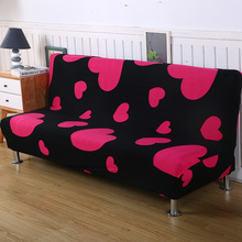 Sofa Cover Elastic Bed All-inclusive Slipcover For Without Armrest No Handrail 50Colors Capa De