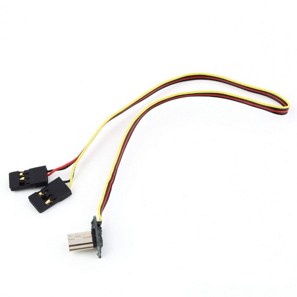 Toys for Children USB 90 Degree to AV Video Output 5V DC Power BEC Input Cable FPV Part for Gopro Hero 3 Camera